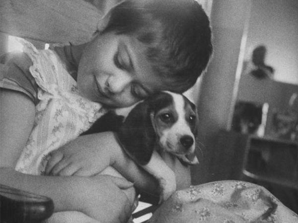 Foto Terapia com animais num hospital em 1956